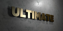 Ultimate - Gold Sign Mounted O...