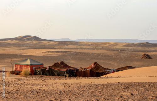 Bedouin desert camp Wallpaper Mural