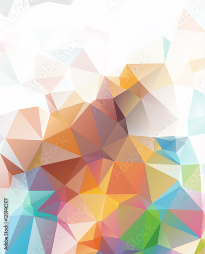 Fototapety, obrazy: Abstract Geometric backgrounds full Color
