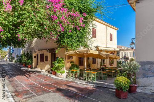 Fotobehang Athene Plaka area near Acropolis, Athens, Greece