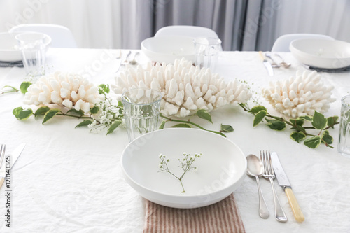 Table decoration and place settings
