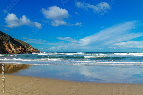 Garden Poster South Africa Beautiful ocean beach with waves in South Africa