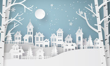 Winter Snow Urban Countryside ...