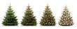 Weihnachtliche Tannenbäume