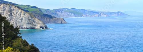 Deurstickers Kust Atlantic Ocean coastline, Biscay Bay, Spain.