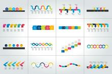 Mega Set Of Timeline Infograph...