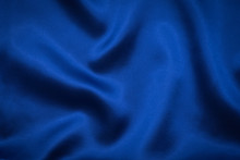 Blue Fabric Grooved For Background