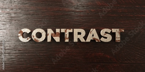 Fotografie, Obraz  Contrast - grungy wooden headline on Maple  - 3D rendered royalty free stock image