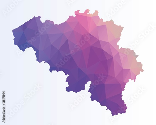 Photo Polygonal map of Belgium