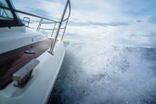 Powerboat Battles An Ocean Storm