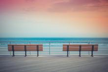Pastel Toned Beach Boardwalk B...