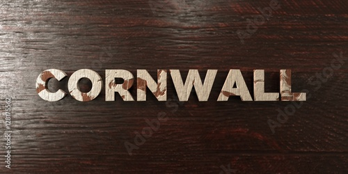 Cornwall - grungy wooden headline on Maple  - 3D rendered royalty free stock image Poster