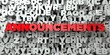 ANNOUNCEMENTS - Red text on typography background - 3D rendered royalty free stock image. This image can be used for an online website banner ad or a print postcard.