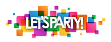 LET'S PARTY Colourful Vector Banner