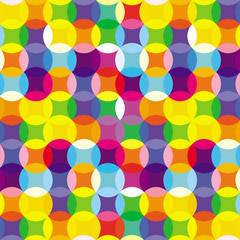 FototapetaCirle yellow pattern. Circle abstract background
