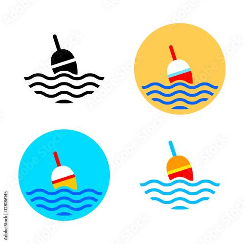 Fishing float icons Fototapet