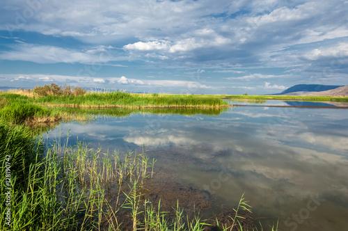 Cadres-photo bureau Inde river in steppe. prairie