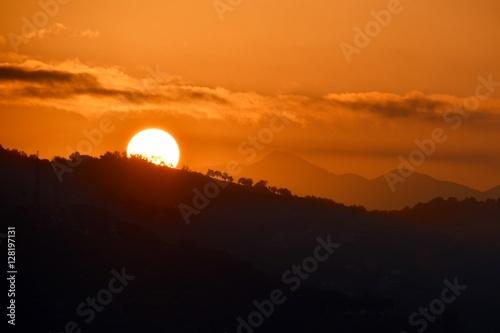 Cadres-photo bureau Brique soleil se couchant