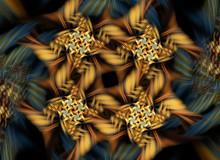 Yellow Fractal Pattern
