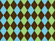 Brown Green Blue Argyle Seamle...