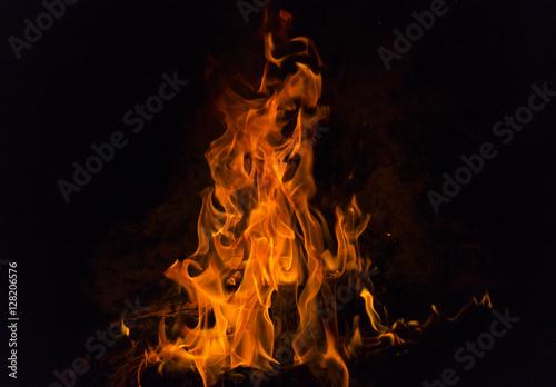 Wall Murals Flame Fire flames.