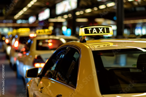 Taxi Wallpaper Mural