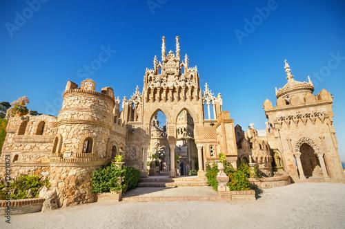 Castle monument of Colomares in Benalmadena, Spain.