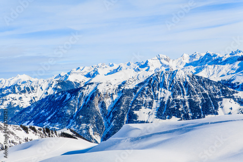 Fototapety, obrazy: view of the Alps mountains in Switzerland.  Winter Landscape. Pa