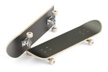 Two Black Skateboards, 3D Rend...