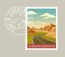 South Dakota, Postage Stamp De...