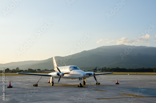 Fotografia, Obraz  Small Airplane or Aeroplane Parked at Airport