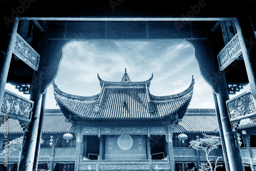 Spoed Foto op Canvas Artistiek mon. Chinese ancient architecture