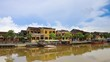 Timelapse 4k old town with Thu Bon river in Hoi An city in Vietnam, Heritage site UNESCO
