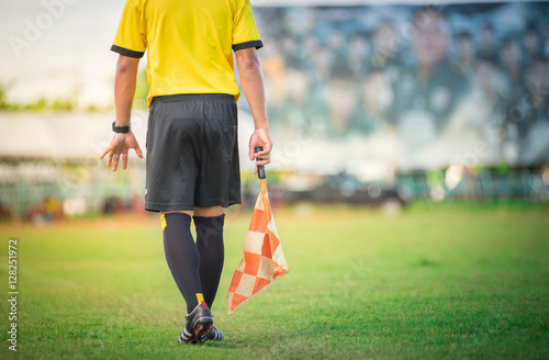 soccer or football assistant referee.. Fototapet