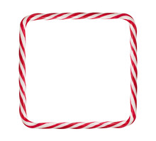 Candy Cane, Christmas Frame Is...