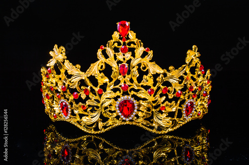crown on a black background - Buy this stock photo and ...