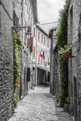 Fototapeta uliczka Włoska Umbria
