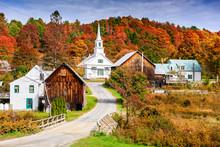 Rural Vermont, USA Autumn Foli...