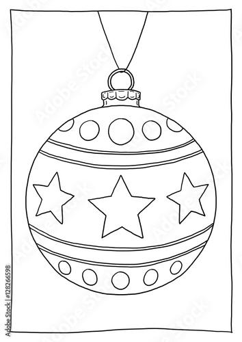 Ausmalbild Christbaumkugel Verziert Kaufen Sie Diese Illustration