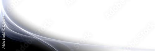 Stickers pour porte Fractal waves Plasma Hintergrund, Panoramaformat