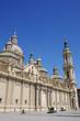 Plaza del Pilar square in Zaragoza, in front of Basilica de Nuestra Senora del Pilar, Spain