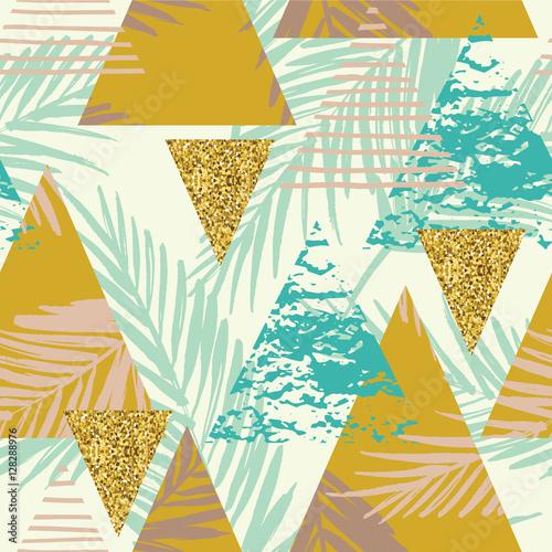 egzotyczny-wzor-z-lisci-palmowych-na-geometryczne-tlo