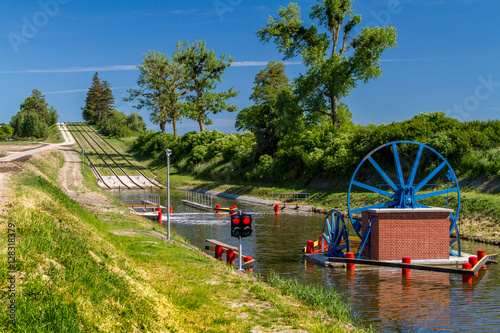 Photo sur Toile Canal The Elblag Canal, historical monument of hydro-engineering, Poland