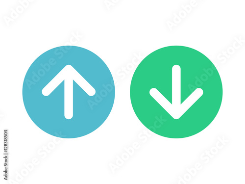 Cuadros en Lienzo Up and down arrow vector