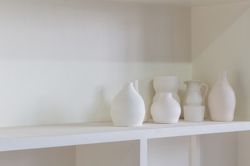 Fototapeta na wymiar Handmade tradition porcelain product on shelf
