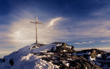 Wooden Summit Cross On The Mou...