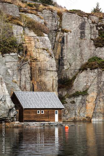 Keuken foto achterwand Schip a fishing village
