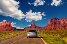 Highway In Monument Valley, Ut...