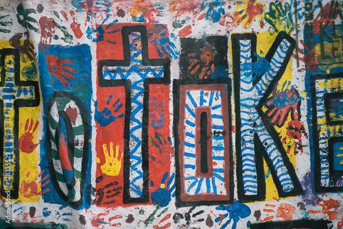 Poster Imagination Graffiti on wall