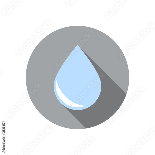 Fotografía  Векторная иллюстрация иконка простой символ плоский для веб силуэт шаблон water
